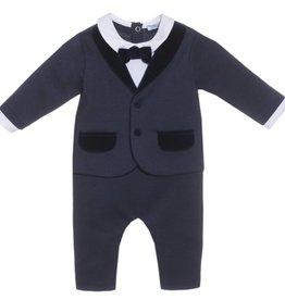 Patachou Navy Tuxedo Babygrow