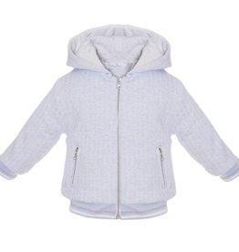 Patachou Blue & White Knit Hooded Jacket