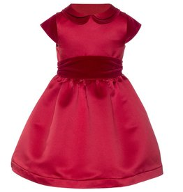 Patachou Red Satin & Velvet Dress