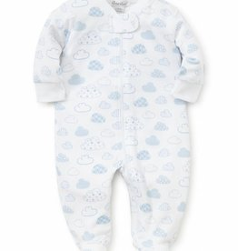 Kissy Kissy Blue Cloud Zip Footie