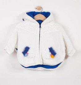 Catimini Ivory Knit Cape Coat