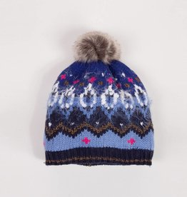 Catimini Blue Fur Pom Hat