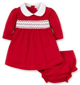 Kissy Kissy Holiday Smocked Dress Set