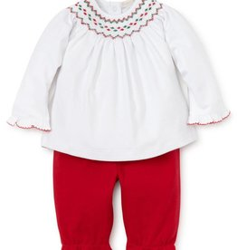 Kissy Kissy Holiday Smocked Set