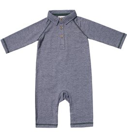 Fore Axel & Hudson Navy Polo Romper
