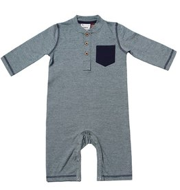 Fore Axel & Hudson Green Henley Romper