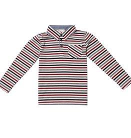 Fore Axel & Hudson Burgundy & Grey Stripe Polo