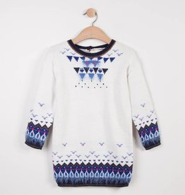 Catimini White & Blue Sweater Dress
