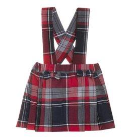 Patachou Navy & Red Tartan Skirt