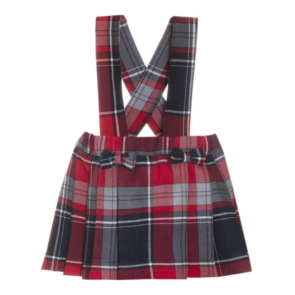 Patachou Navy & Red Tartan Skirt - Doodle & Stinker ...