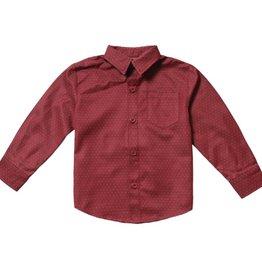 Fore Axel & Hudson Burgundy Pindot Shirt