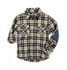 Appaman Golden Navy Flannel Shirt
