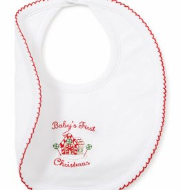 Kissy Kissy White & Red 1st Christmas Bib