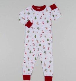 Kissy Kissy White Tis the Season Pajama Set
