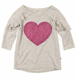 Appaman Grey & Pink Heart Tee