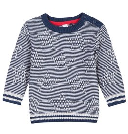 Navy & White Star Sweater
