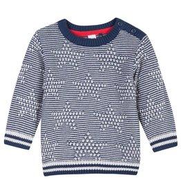 Navy & White Star Sweater