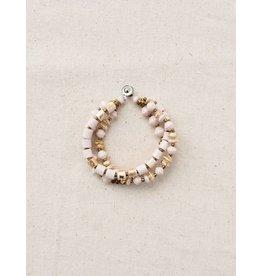 31 Bits Celestial Bracelet - Cream/Gold