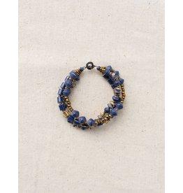31 Bits Celestial Bracelet - Navy/Gold
