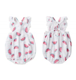 Angel Dear Adorable Watermelon Ruffle Sunsuit