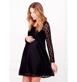 Ingrid & Isabel Maternity Dot Lace Dress