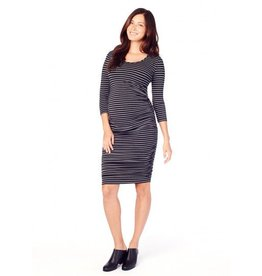 Ingrid & Isabel Maternity 3/4 Sleeve Shirred Dress