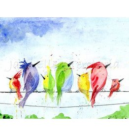 Jane Ellen Paintings Birds on a Wire Giclee - 16x20