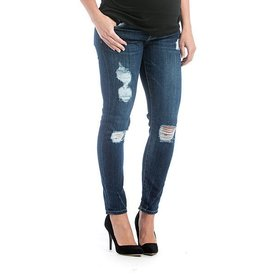 Lilac Maternity Lilac Skinny Denim - Distressed