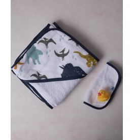 Little Unicorn Hooded Towel Set - Dino Friends