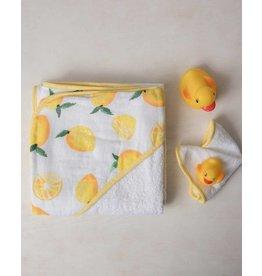 Little Unicorn Hooded Towel Set - Lemons