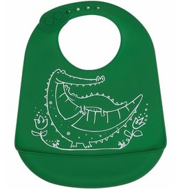 Modern-Twist Bucket Bib - Crocodile Cuddles