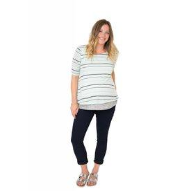 NOM Maternity Lottie Top - Mint Stripe