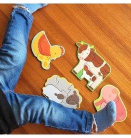 Petit Collage Beginner Puzzle - Farm Babies
