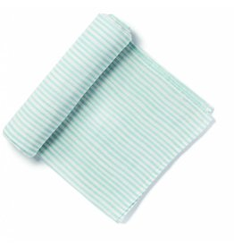 Petit Pehr Organic Muslin Swaddle - Blue Pencil Stripe