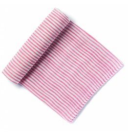 Petit Pehr Organic Muslin Swaddle - Pink Pencil Stripe
