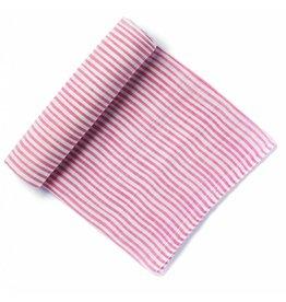 Petit Pehr Organic Muslin Swaddle - Pink Pinstripe