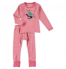 Rockin' Baby Girl PJ Set - Birds/Pink Stripe