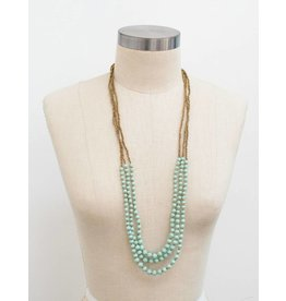 31 Bits Dreamer Necklace - Mint