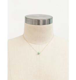 31 Bits Minimalist Droplet Necklace - Mint