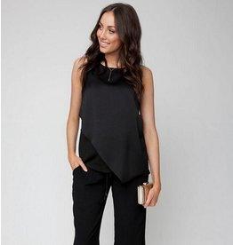 Ripe Maternity Asymmetric Nursing Top - Black