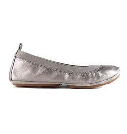 Yosi Samra Ballet Flat - Pewter Metallic