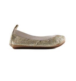 Yosi Samra Sparkle Ballet Flat - Gold