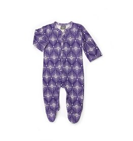 Kate Quinn Organics Classic Footie - Blackberry Feather