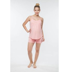 Belabumbum Maternity Nursing Cami & Short Set - Peach