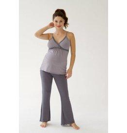 Belabumbum Maternity Nursing Cami & Lounge Pant Set - Lilac Stripe