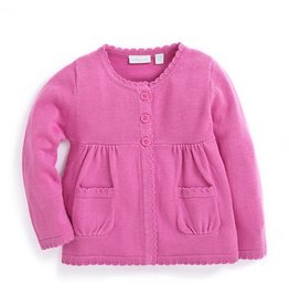 JoJo Maman Bebe Maternity Classic Cotton Cardigan - Fuchsia
