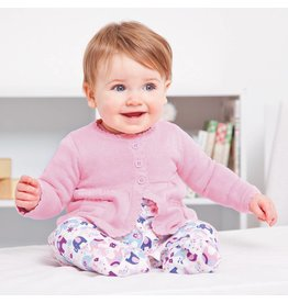 JoJo Maman Bebe Maternity Classic Cotton Cardigan - Soft Pink