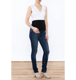 JoJo Maman Bebe Maternity Supersoft Straight Leg Jean - Dark Vintage Wash