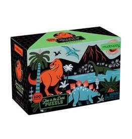 Chronicle Books Glow In The Dark Puzzle - Dino