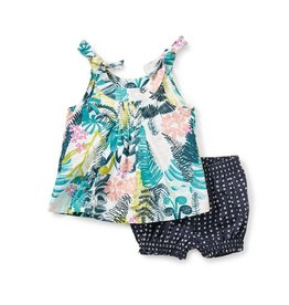 Tea Collection Botanical Baby Outfit